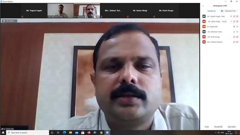 """Webinar on """"Competitive Examination"""" organized by Department of Computer Science"""