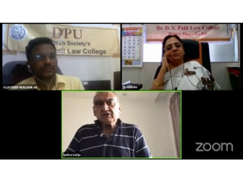 "Webinar on ""Future of India and Indian Judiciary"""