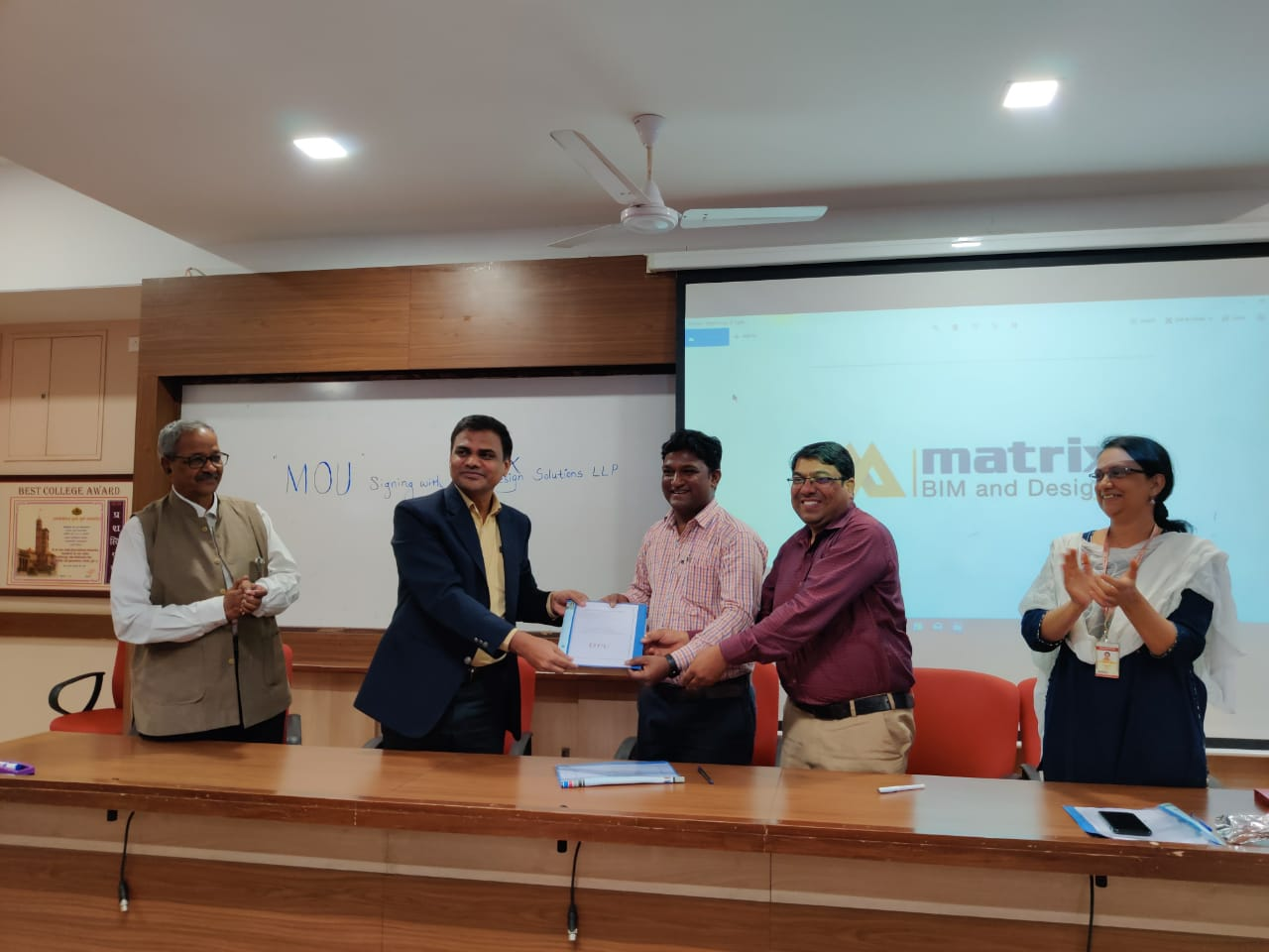 MoU signing with  Matrix BIM and Design Solutions LLP